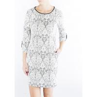 Monnari Koronkowa sukienka z lamówką DRE3070