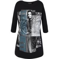 Monnari Bawełniany t-shirt z kobiecym portretem TSH3860