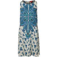 René Derhy TOURBIERE Sukienka letnia niebieski RD521C024-K11