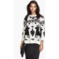 H&M Żakardowy sweter 58931-B