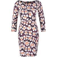 Just Cavalli Sukienka z dżerseju black/white/light brown JU621C04L-Q11