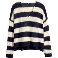 H&M Sweter robiony lewym ściegiem 71948-G