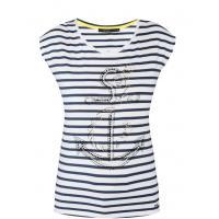 Monnari T-shirt z kotwicą TSH1780