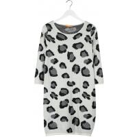 BOSS Orange WAKIKA Sukienka dzianinowa natural BO121C01X-B11