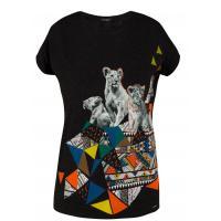 Monnari T-shirt z modernistycznym nadrukiem TSH0860