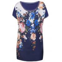Monnari Letni t-shirt z kwiatami TSH1010