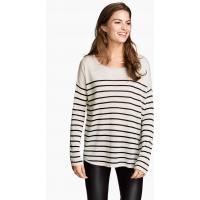H&M Oversized jumper 0217234015 Light grey/Striped