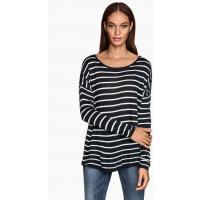H&M Oversized jumper 0217234015 Dark blue/Striped