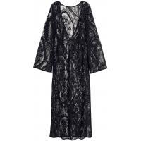 H&M Długa sukienka z koronki 0304932001 Czarny