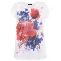 Monnari T-shirt z wielobarwnym, kwiatowym nadrukiem TSH1900