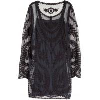 H&M Koronkowa sukienka 0311089004 Czarny