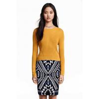 H&M Sweter z cienkiej dzianiny 0304707006 Musztardowożółty