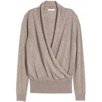 H&M Cienki sweter 0217344003 Jasny szaroczarny