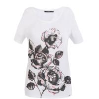Monnari T-shirt z kwiatowym nadrukiem TSH6280