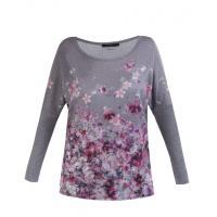 Monnari T-shirt z malowanymi kwiatami TSH5310