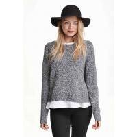H&M Sweter 0319185022 Czarny melanż