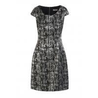 Monnari Sukienka ze srebrzystym wzorem DRE2360