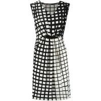 Anna Field Sukienka z dżerseju black/white AN621CA0A-A11