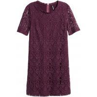 H&M Koronkowa sukienka 0318564005 Ciemna śliwka