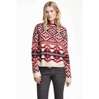 H&M Jacquard-knit jumper 0309321001 Red/Patterned