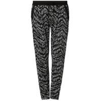 Even&Odd Spodnie materiałowe black/white EV421A032-Q11