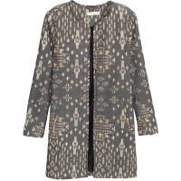 H&M Płaszcz z tkaniny z fakturą 0333898006 Czarny/Wzór