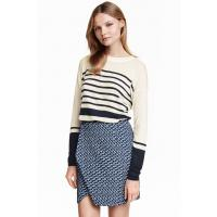 H&M Striped jumper 0351773002 White/Dark blue