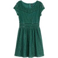 H&M Koronkowa sukienka 0342672004 Zielony