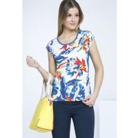 Monnari T-shirt z kolorowymi liśćmi TSH2930