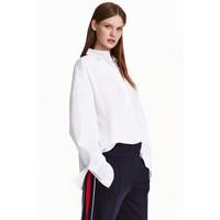 H&M Bawełniana koszula oversize 0430655004 Biały
