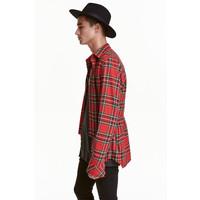 H&M Flanelowa koszula 0407422001 Czerwony/Krata