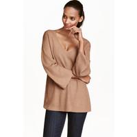 H&M Sweter 0423246002 Beżowy melanż
