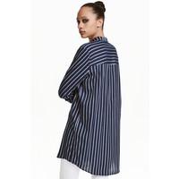 H&M Długa koszula 0398620005 Ciemnoniebieski/Paski