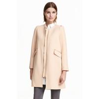 H&M Krótki płaszcz 0390169001 Pudrowobeżowy