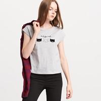 Reserved Koszulka z kotem PN046-09M