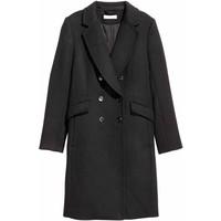 H&M Płaszcz z domieszką wełny 0416724003 Czarny