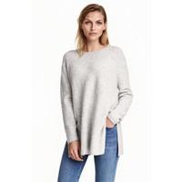 H&M Sweter 0390625009 Jasnoszary melanż