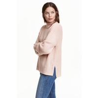 H&M Sweter z półgolfem 0428591002 Pudrowy melanż
