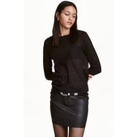 H&M Cienki sweter 0358483001 Czarny