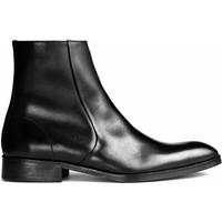 H&M Skórzane botki 0419728001 Czarny
