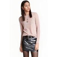 H&M Cienki sweter 0358483001 Szaroróżowy