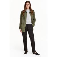 H&M Szerokie spodnie 0432699001 Czarny
