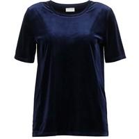 Vila VIVELVETINE T-shirt basic total eclipse V1021D0DI-K11