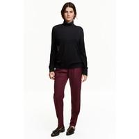 H&M Szerokie spodnie 0432699001 Śliwkowy