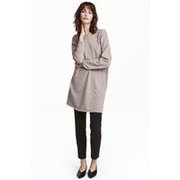 H&M Kaszmirowy sweter 0409456004 Brązowoszary