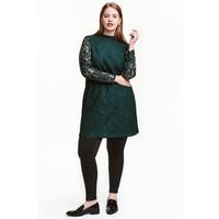 H&M H&M+ Koronkowa sukienka 0407110001 Ciemnozielony