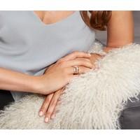 Tchibo Srebrny pierścionek, pozłacany złotem różowym, z cyrkonią* 400105038