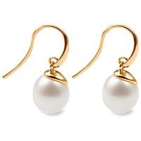 Tchibo Złote kolczyki ze słodkowodnymi perłami hodowlanymi, złoto próby 585 400095758