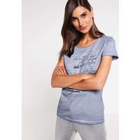 Q/S designed by T-shirt z nadrukiem dusty blue QS121D0EX