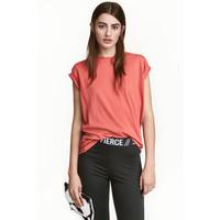 H&M Długi T-shirt 0240670033 Terakotowy róż